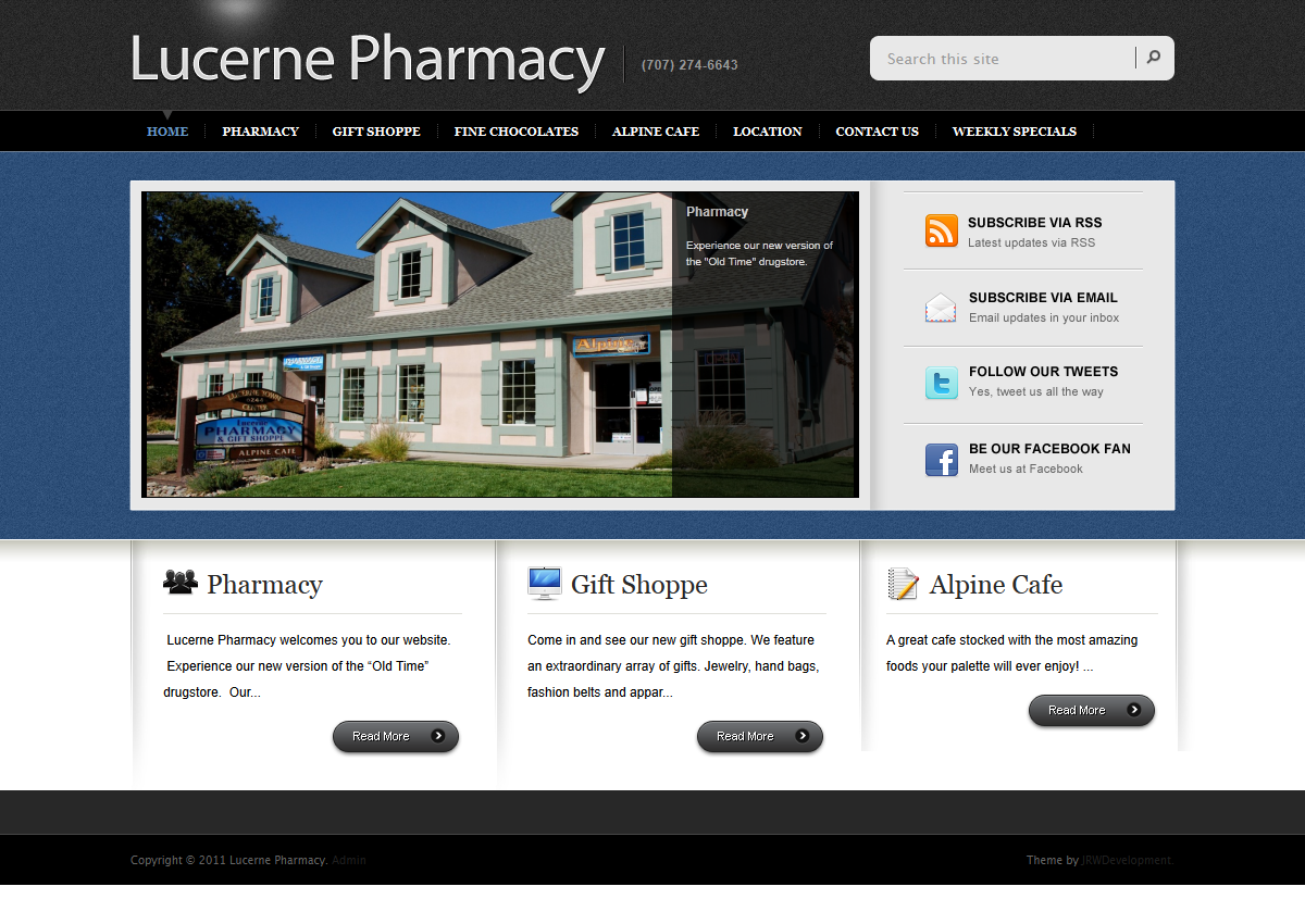 Front Page Screenshot